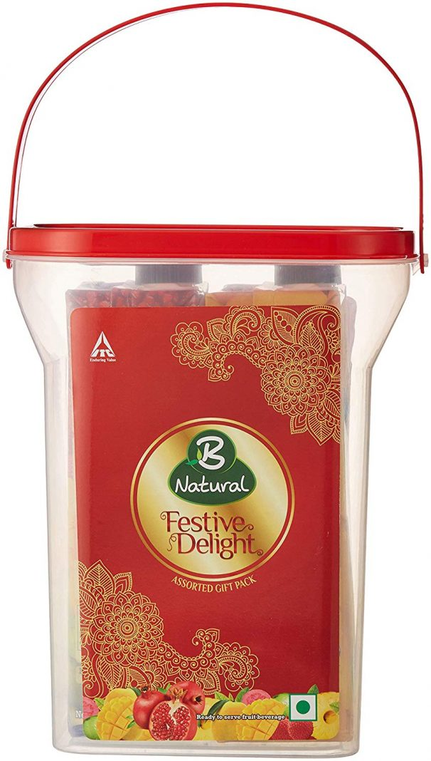 Amazon India : B Natural Festive Delight Utility Gift Pack with Plastic Container, 2l