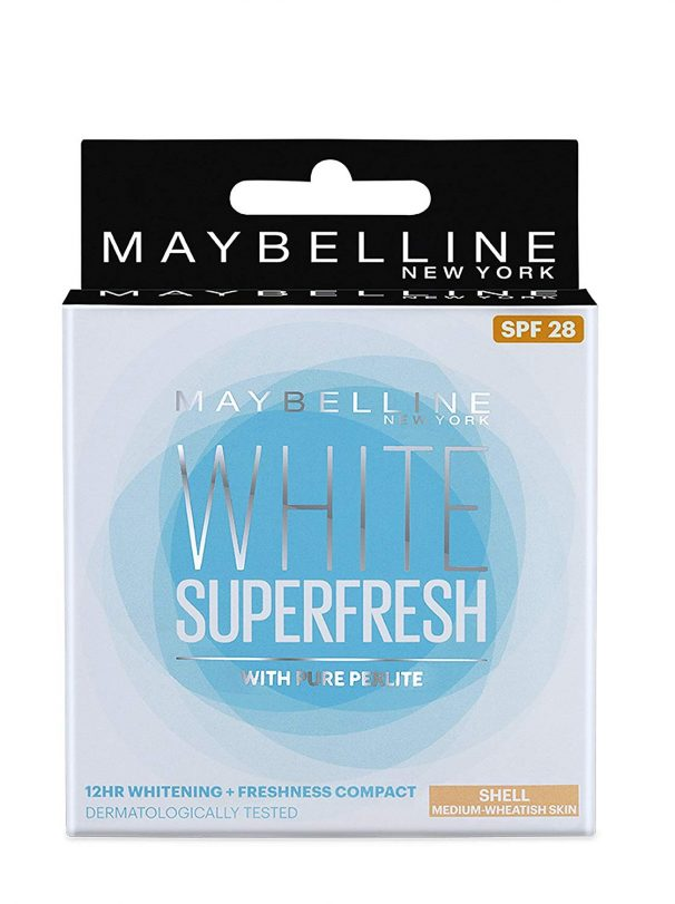Amazon India : Maybelline New York White Super Fresh Compact, Shell, 8g