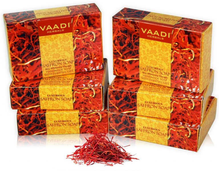Amazon India : Vaadi Herbals Super Value Luxurious Saffron Soap Skin Whitening Therapy, 75g (Pack of 6)