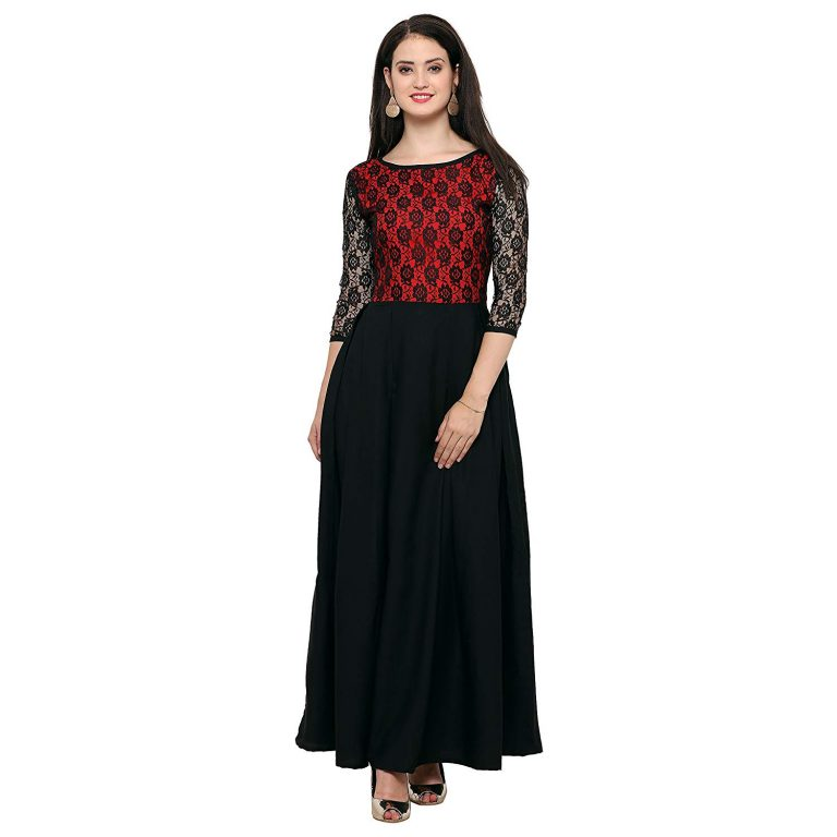Amazon India : Fashion2wear Women's Net Stitched Casual Gown