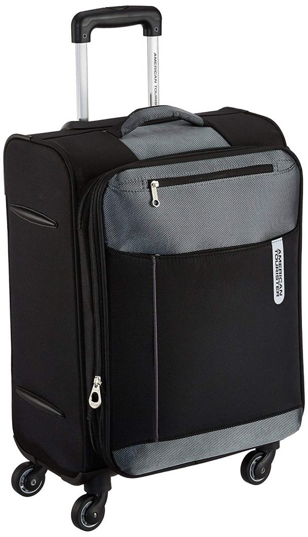 Amazon India : American Tourister Portugal Polyester 57 cms Black Soft Sided Carry-On (AMT Portugal SP 57CM Black)