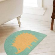 Pepperfry : Abstract Pattern Cotton 24 x 16 inches Anti Skid Bath Mat By Saral Home