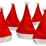 Amazon: Sunshine 10 Pcs Christmas Hats, Santa Claus Caps For kids and Adults, Free Size, XMAS Caps