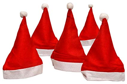 Amazon: Sunshine 10 Pcs Christmas Hats, Santa Claus Caps For kids and Adults, Free Size, XMAS Caps