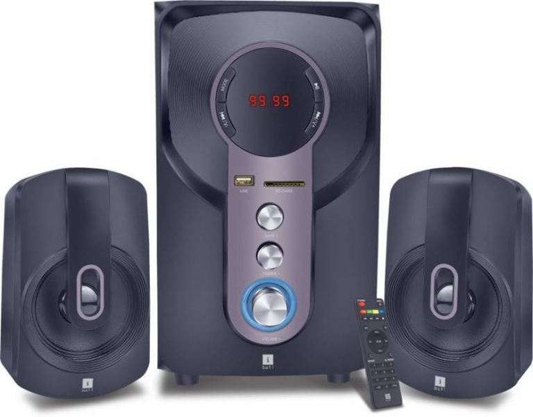 Flipkart : iball Hi-Basss Bluetooth Home Audio Speaker(Black, 2.1 Channel)