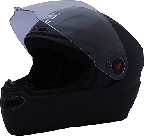 Amazon India : Steelbird Air SBA-1 Matte Full Face Helmet (Black, M)