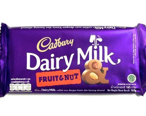 Amazon India : Cadbury Dairy Milk Fruit & Nut Chocolate Bar, 165g