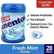 Paytmmall : Mentos Pure Fresh Freshmint Sugar Freegum 56 gm Pack of 2