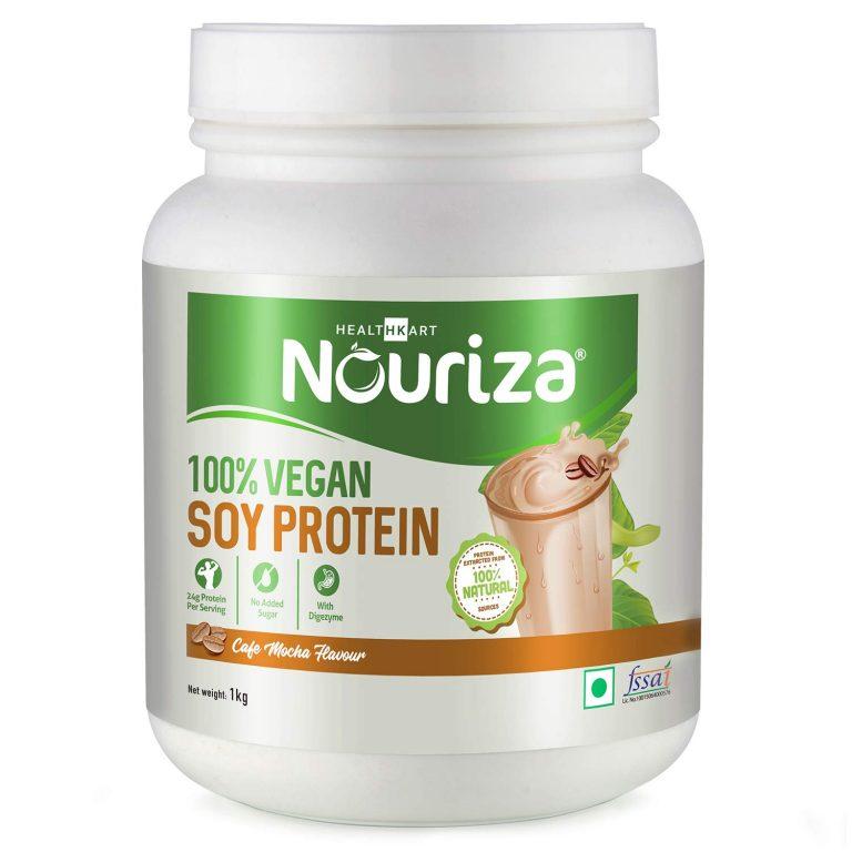Amazon India : Nouriza 100% Soy Protein 1kg