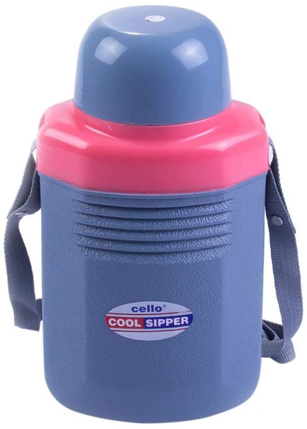 Amazon India : Cello Cool Sipper Water Bottle, 2 Litres, Grey