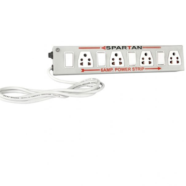 Amazon India : Spartan Power Strip 6A 4-Socket Extension Cord (White)