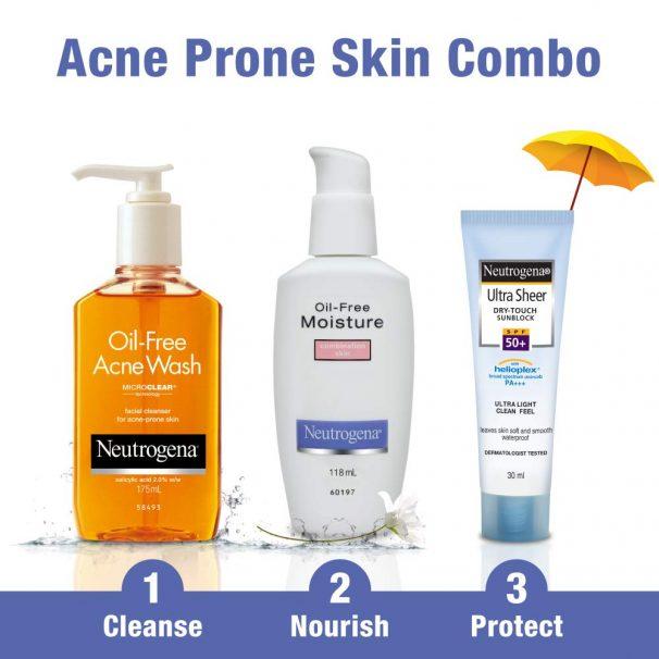 Amazon India : Neutrogena Acne Prone Skin Care Kit (Combo Of 3)
