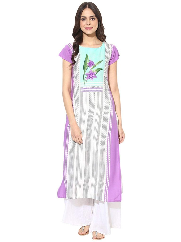 Amazon India : Vaamsi Women's A-Line Kurta