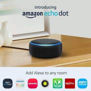 Amazon India : All-new Echo Dot (3rd Gen) - Smart speaker with Alexa (Black)