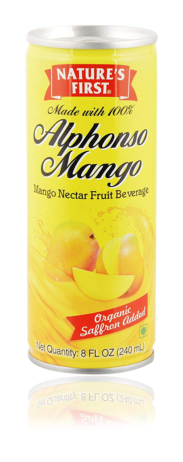 Amazon India : Nature's First Alphonso Mango Nectar with Organic Saffron, 1440 ml (Pack of 6)