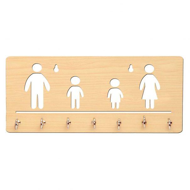 Amazon India : Sehaz Artworks Family 7 Hooks Wooden Key Holder (25 cm x 11 cm)