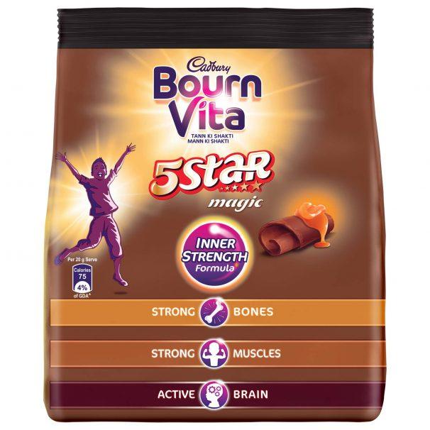 Amazon India : Bournvita 5 Star Magic Chocolate Health Drink, 500 gm Refill Pack