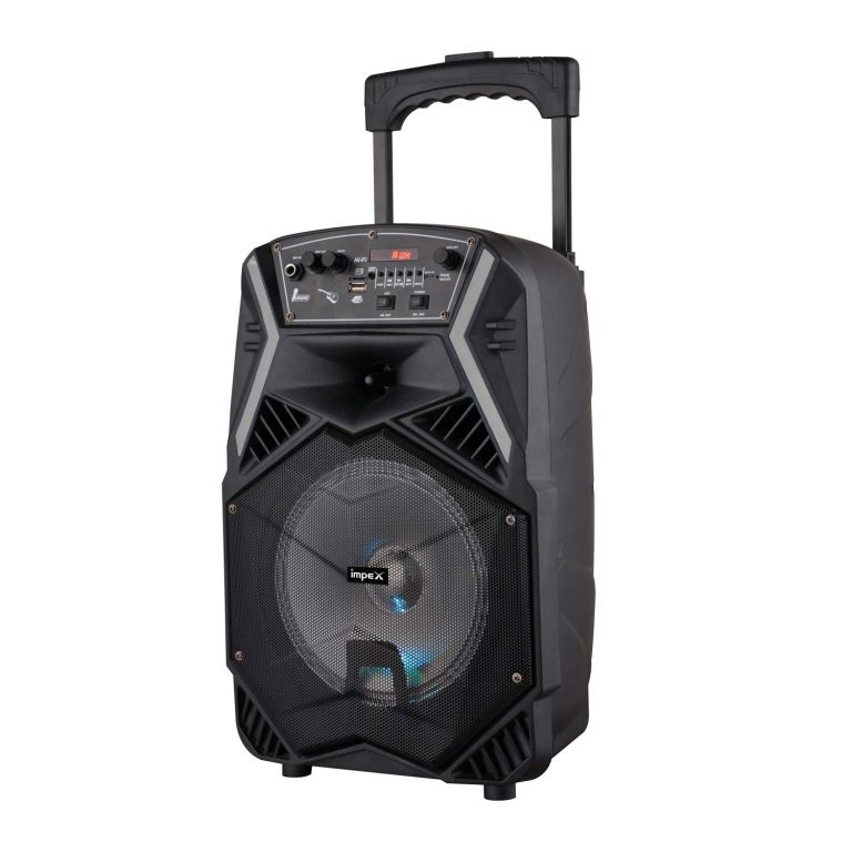 Amazon India : Impex TS-25B 25 W Multimedia Portable Trolley Speaker with Mic & LED Light