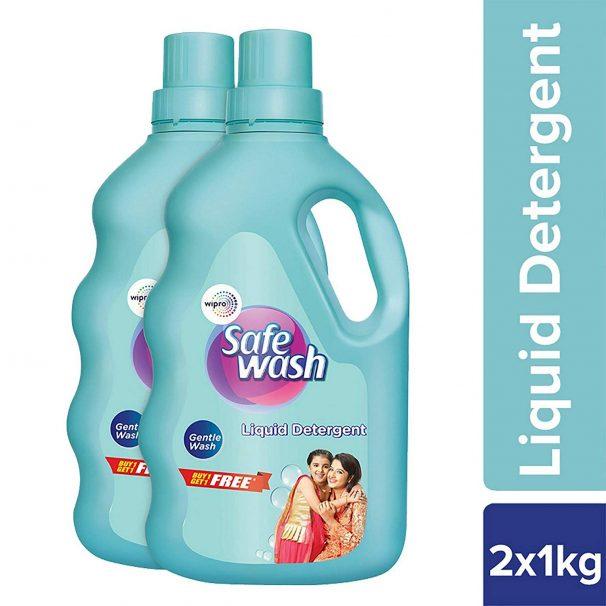 Amazon India : Safewash Liquid Detergent 1Kg + 1Kg