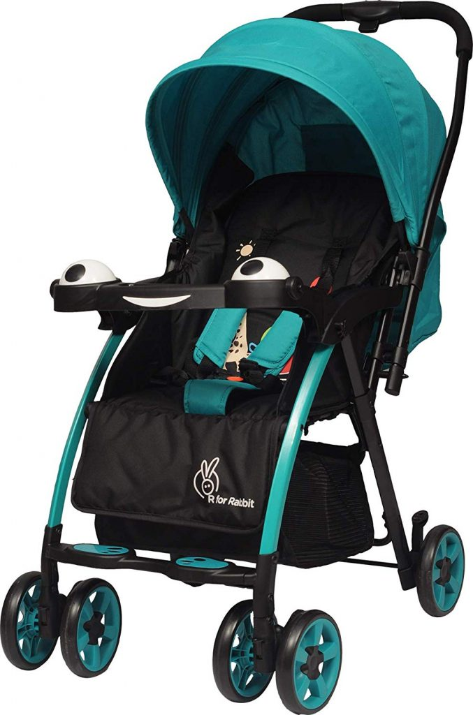 Amazon India : R for Rabbit Baby's Poppins Stroller (Green Black)