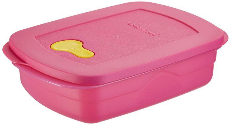 Amazon India : Cello Max Fresh Plastic Microwave Cum Fridge Container, 1.4 litres, Blue