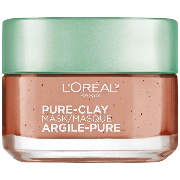 Amazon India : L'Oreal Paris Pure Clay Mask, Exfoliate & Refine Pores, 48g