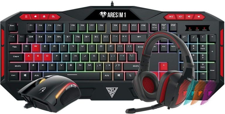 Amazon India : Gamdias Poseidon M1 Gaming Keyboard, Mouse and Headset Combo (Black and Red)