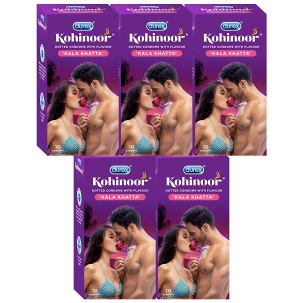 Amazon India : Durex Kohinoor Condoms - 10 Count (Pack of 5, Kala Khatta)