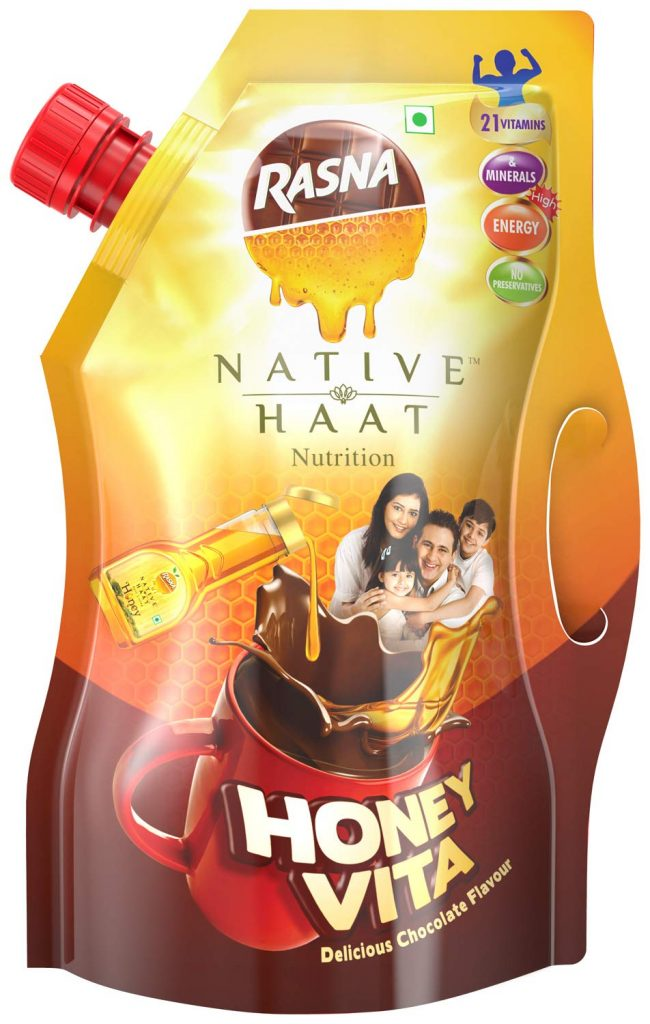 Amazon India : Rasna Native Haat Honey vita Spout pack 500g Pack of 2 (Chocolate)