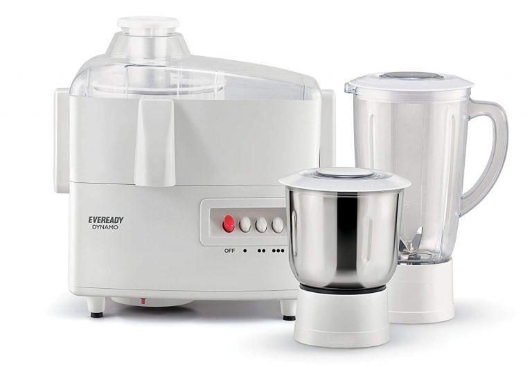 Amazon India : Eveready Dynamo 450-Watt Juicer Mixer Grinder (White)