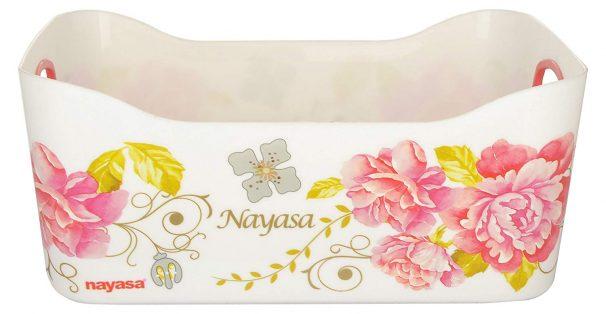 Amazon India : Nayasa Passion Fruit Plastic Basket Deluxe, Set of 2, Pink