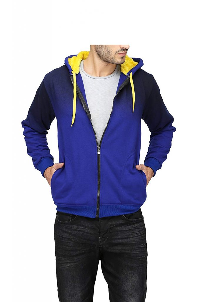 Amazon India : High Hill Men's Wool Hooded Sweatshirt