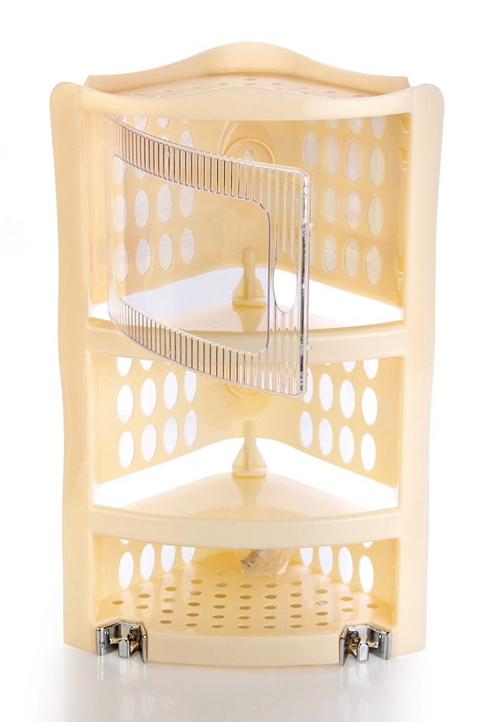 Amazon India : Nayasa Plastic Corner Rack, Dark Ivory