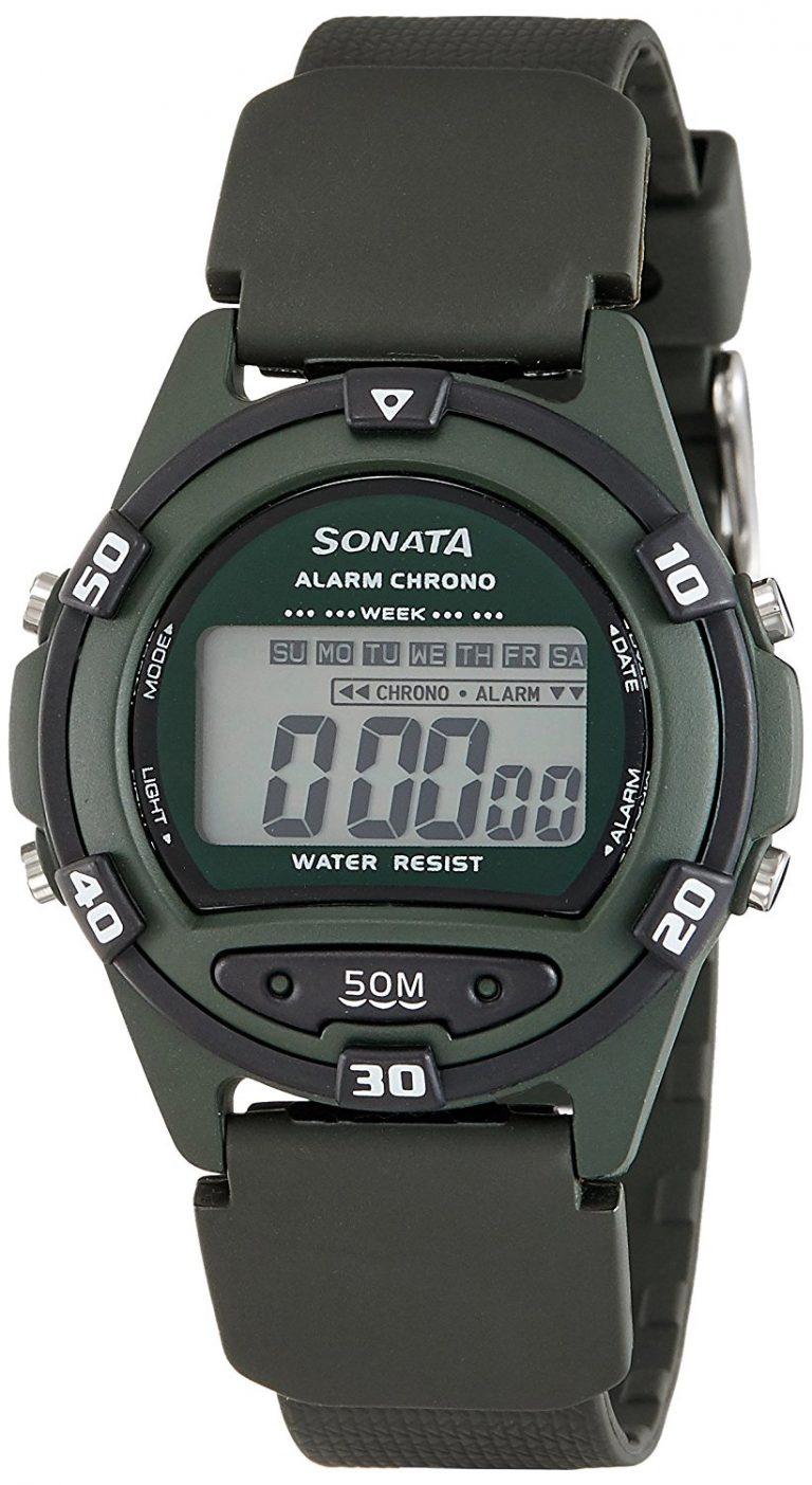Amazon India : Sonata Digital Green Dial Men's Watch