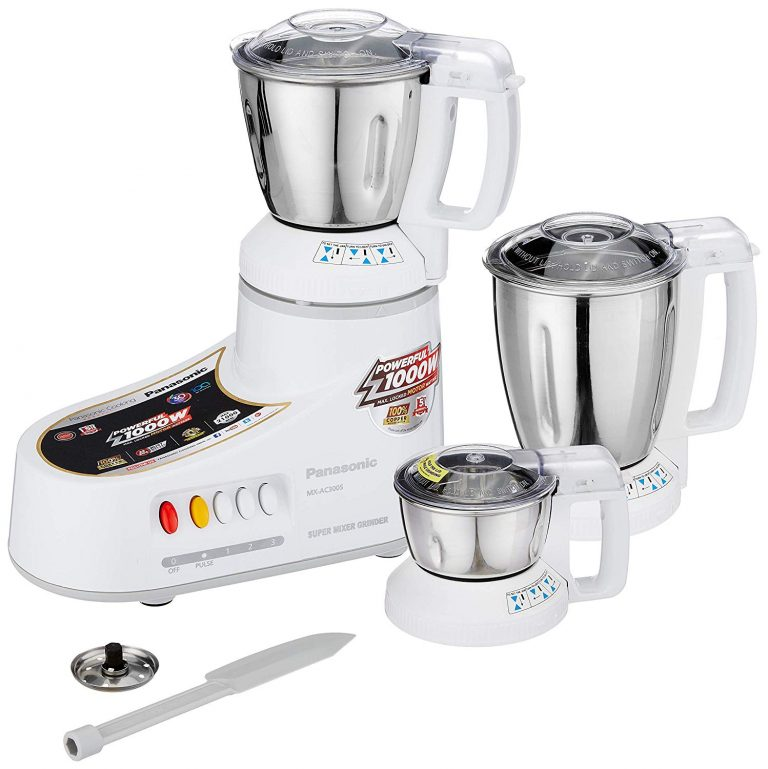 Amazon India : Panasonic AC MX-AC300S-H 1000-Watt Mixer Grinder with 3 Jars (Grey)