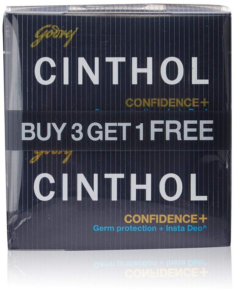 Amazon India : Cinthol Confidence+ Soap, 125g With Free 75g