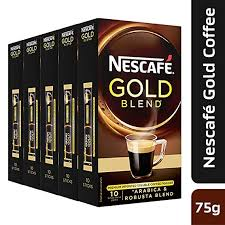 Paytmmall : Nescafe Gold Blend Premium Imported Coffee Powder, (15g, Pack of 5)