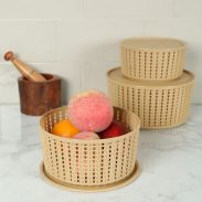 Pepperfry : Selvel Target Set of 3 Plastic Baskets