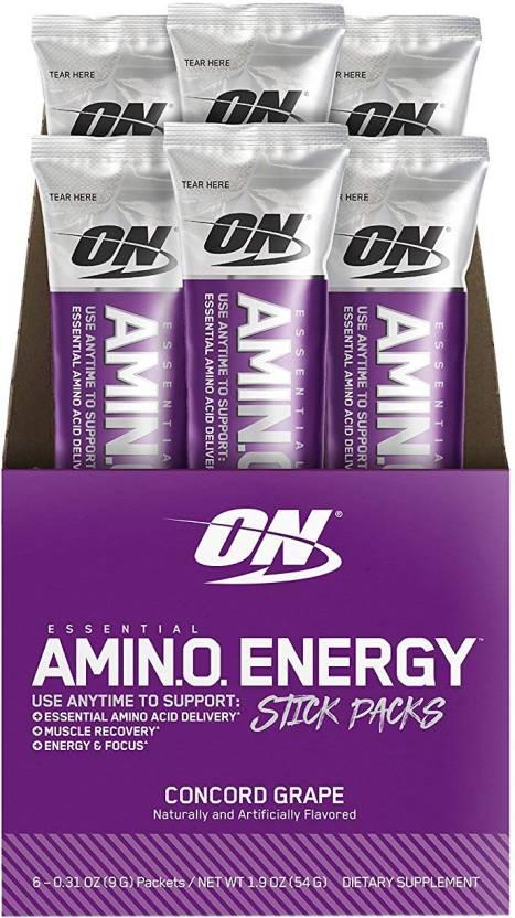 Flipkart : Optimum Nutrition Essential Amino Energy BCAA  (54 g, Concord Grape)