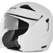 Amazon India : Vega Eclipse ECL-W-M Open Face Helmet with Double Visor (White, M)