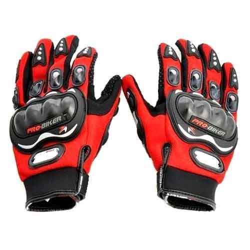 Amazon India : Probiker Leather Motorcycle Gloves (Red, XXL)