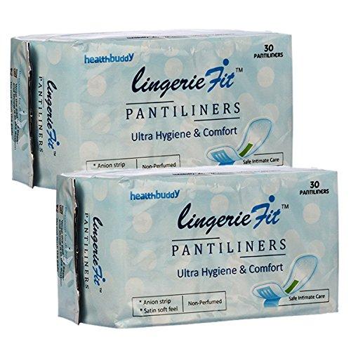 Amazon India : Healthbuddy Lingerie Fit Pantiliners-2 Packs Of 30 Pcs Each