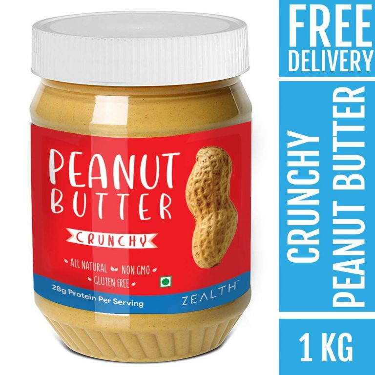 Amazon India : Zealth - Crunchy Peanut Butter | Unsweetened | Natural | Non GMO | Vegan | Gluten Free- 1kg