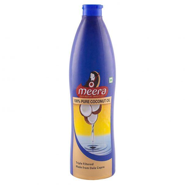 Amazon India : Meera Pure Coconut Hair Oil, 500ml