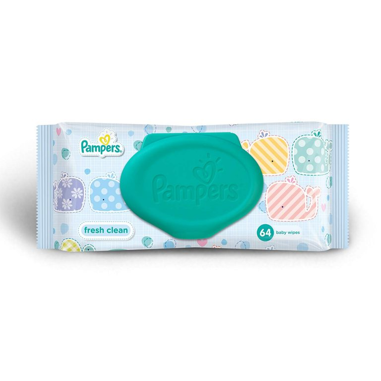 Amazon India : Pampers Fresh Clean Baby Wipes (64 Count)