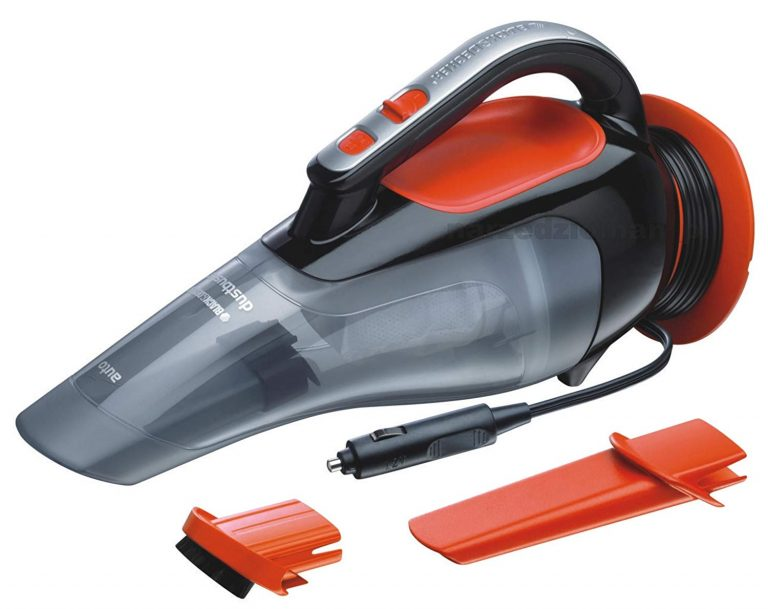 Amazon India : Black & Decker ADV1210 Dustbuster Automatic Car Vacuum Cleaner (Black and Orange)