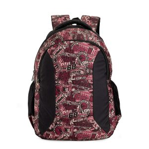 Amazon India : Chris & Kate Red Graffiti Big Comfortable Backpack | Laptop Bag | School Bag | College Bag (32 litres) (CKB_133GC)