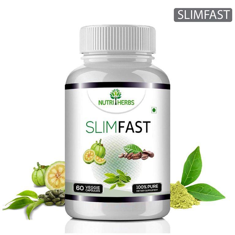 Amazon India : Nutriherbs Slimfast Garcinia Cambogia, Green Coffee , Green Tea Combo - 60 Capsules Weight Loss (Pack Of 1)