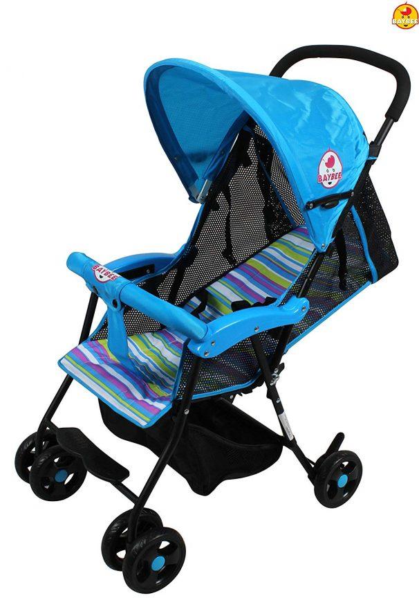 Amazon India : BAYBEE Shade - Baby Buggy Stroller (Blue) 1 Pcs