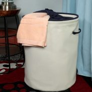 Pepperfry : My Gift Booth 20L Canvas Laundry Hamper